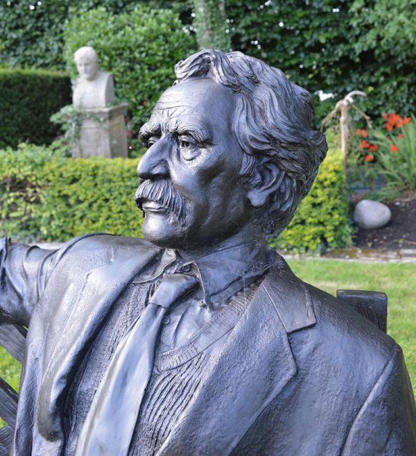 Douglas Hyde Garden Bench side profile